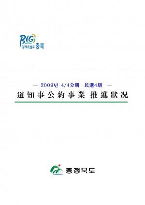 총괄현황 - 2009년4분기 도지사공약사업