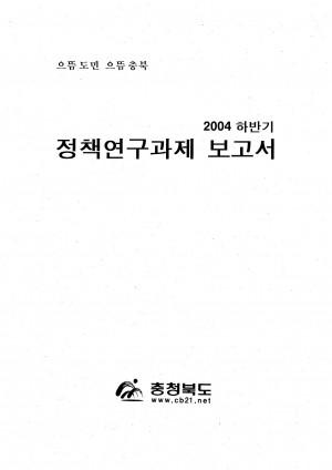 정책연구과제 보고서(2004 하반기)