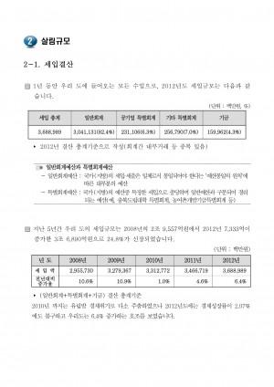2013 재정공시 - 2. 살림규모