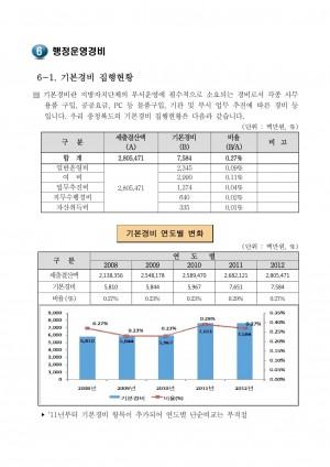 2013 재정공시 - 6. 행정운영경비