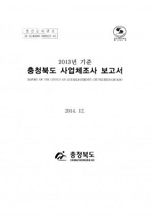 (2013년 기준)사업체조사보고서