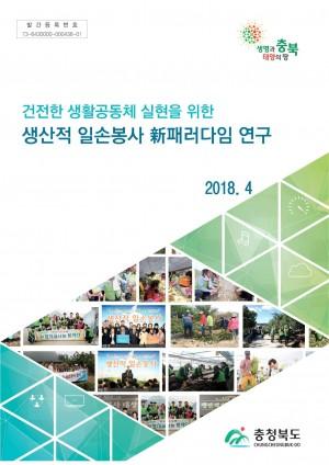 생산적 일손봉사 신패러다임 정책연구용역 최종보고서