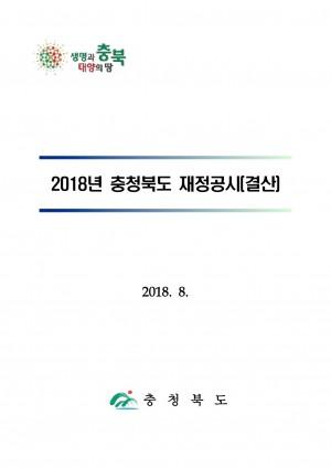 2018년 충청북도재정공시(홈페이지)