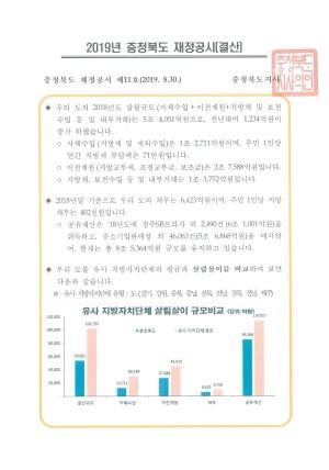 2019 충청북도 지방재정공시