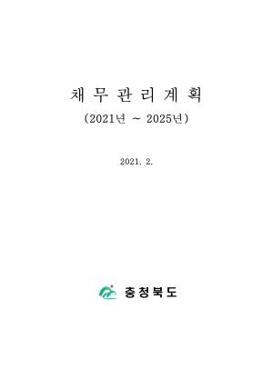 2021~2025년 채무관리계획(충청북도)
